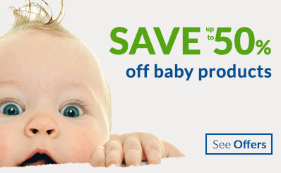 save up to 50% off baby products