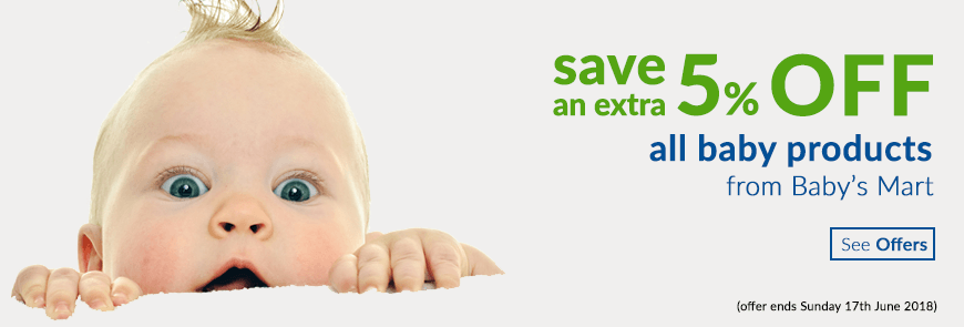 save an extra 5% off all baby products from Babys Mart