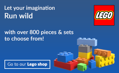 let your imagination run wild in our Lego shop