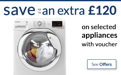 save up to an extra £120 off appliances with voucher