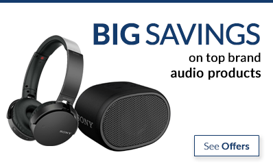 save on top brand audio products