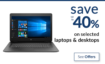 save up to 40% on laptops & desktops