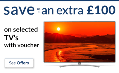 save up to an extra £100 off TV's with voucher