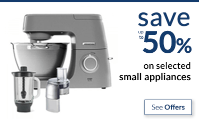 save up to 50% on small kitchen appliances