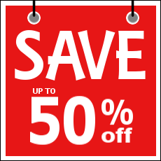 HUGE SAVINGS - Save up to 50%